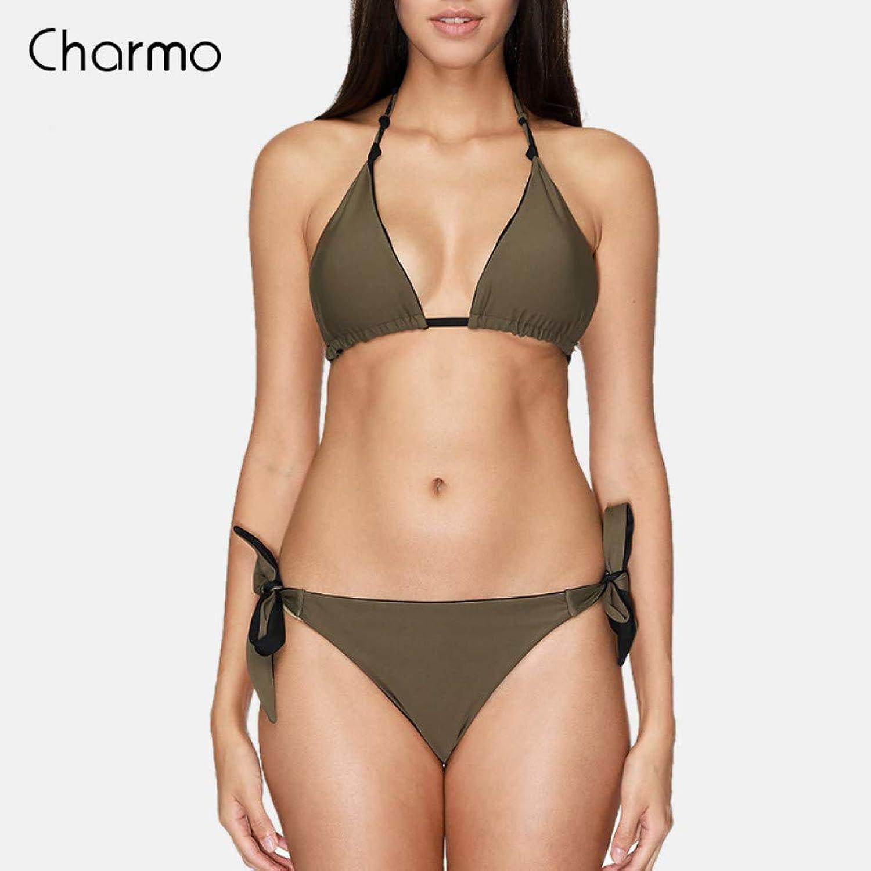 WARM home Kreativ Damen groer Badeanzug, tief Geschnittener, hoch Geschnittener, einteiliger sexy Bikini
