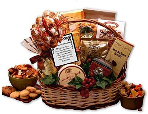 With Sincere Sympathy Gift Baskets Bountiful Gourmet Sympathy Gift Basket product image