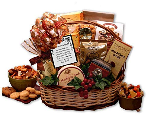 Free 1 - 3 Day Delivery - With Sincere Sympathy Gift Baskets - Bountiful Gourmet Sympathy Gift Basket
