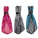 Amagogo Paquete de 3 Lindos Vestidos de Noche BJD con Cuello en V para Vestir a Muñecas Blythe 1/6