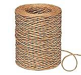 ilauke - Filo di carta da 150 m,in rattan di carta di ferro,filo naturale Ø2 mm,materiale artigianale e ausiliario per compleanno,matrimonio,giardinaggio o decorazione da tavolo,colore naturale