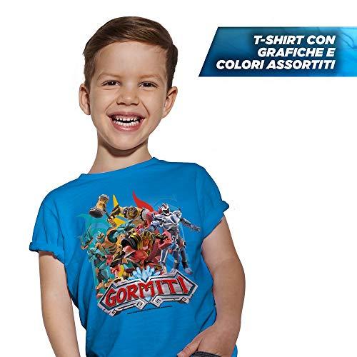 Giochi Preziosi Gormiti T Shirt Taglia 5/6 Anni, Colori Assortiti