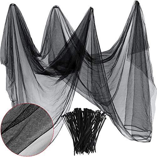 Zonon Käfer Insekt Mücke Fliege Vogelnetz Barriere Jagd Blinde Pflanze Schutz Gartengeflecht (3 m x 10 m, Schwarz)