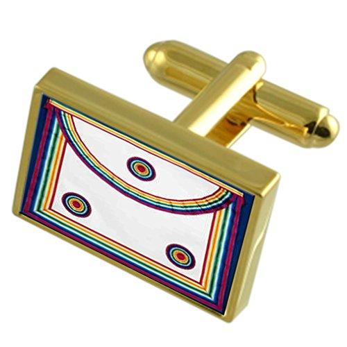 Select Gifts Masonic Royal Ark Regalia Schürze Gold-Manschettenknöpfe Gravur Box