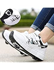 Roller Shoes Roller Skates Shoes Girls Boys Wheel Shoes Kids Wheel Sneakers Roller Sneakers Shoes with Wheels