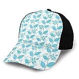 Gorra de béisbol para papá de tamaño ajustable para correr entrenamientos y actividades al aire libre, diseño floral abstracto, inspiraciones botánicas, ornamentales suaves plantas de primavera