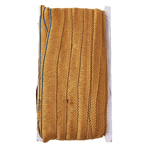 Pandahall 1Inch(25mm) Lace Chainette Fringe Trim Polyester Tassel Trim 27 Yards for Sewing Edging Trimming Curtain Blanket Hanging Rugs Clothing Home Decor DarkGoldenrod