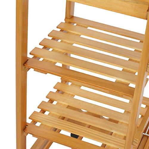 Nova Microdermabrasion Rolling Wood Kitchen Island Storage Trolley Utility Cart Rack w/Storage Drawers/Baskets Dining Stand w/Wheels Countertop (Wood) (Wood Top)