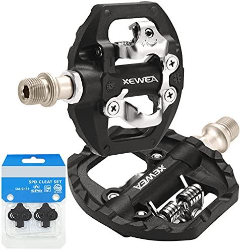 TacoBey Pedali per bicicletta compatibili con Shimano SPD Mountain Clipless, 3 sigillati, antiscivolo, in fibra di nylon leggera/lega, per BMX, MTB, Spin Trekking, E-Bike (Fibra di nylon)