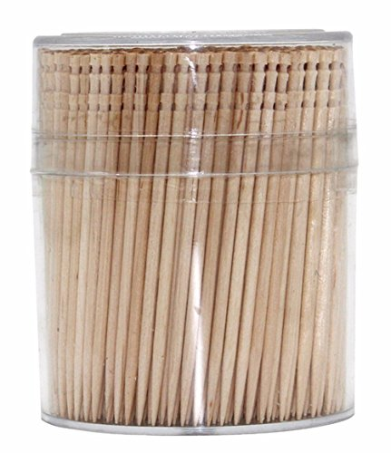 BallBall 100% All Natural Round Wooden Toothpicks Wood Toothpick 2.6 Inch Length 1 Pack of 500 pcs.
