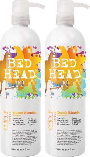 TIGI Bed Head Colour Combats Dumb Blonde Shampoo and Conditioner Duo 2 x 750ml