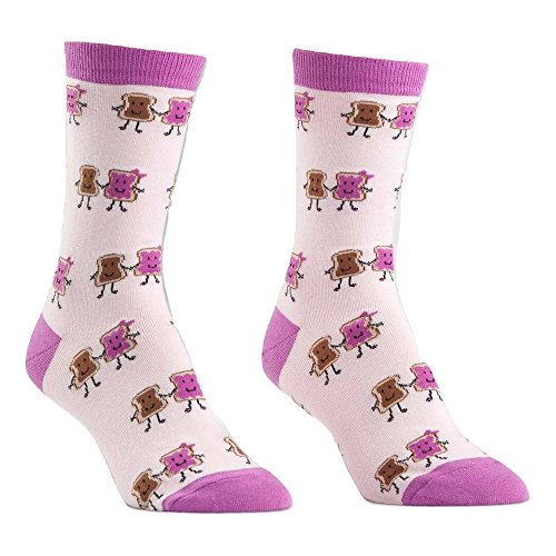 Sock It To Me Women's Peanut Butter and Jelly Sandwich Crew Socks