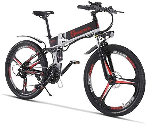 HCMNME Bicicleta Duradera, Bicicletas eléctricas, Bicicletas Plegables Montaña Ebike Smart Double Do...