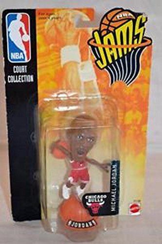 Mattel Granny's (C) Michael Jordan 3' Figure in RED Jersey / Chicago Bulls 1998/1999 Season NBA JAMS Super Detailed 3 INCH Figure by Starting Line Up-New in Package!