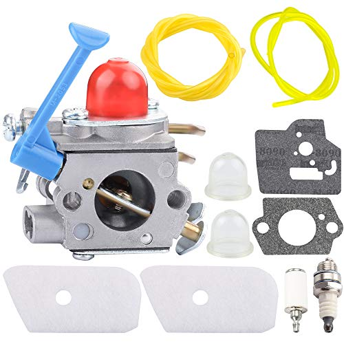 Mannial 128LD Carburetor 545081848 C1Q-W40A Carb fit Husqvarna 124L 125L 125LD 125R 125RJ 128C 128CD 128L 128LD 128LDX 128R 128RJ 128DJX Trimmer Rep # 545081848 545130001 with Air Filter Tune Up Kit