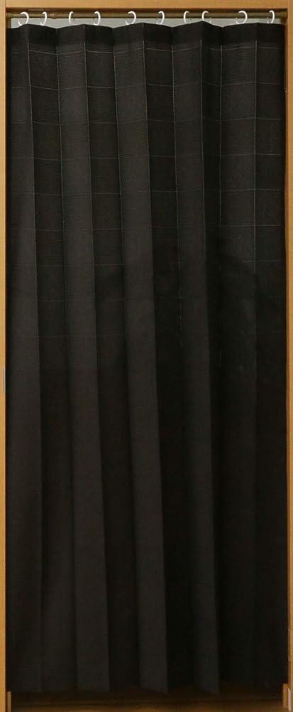 整理するピービッシュまつげパタパタカーテン マルチ 3way アコーディオン 間仕切り 省エネ 目隠しカーテン 幅100cm×丈250cm ブラウン