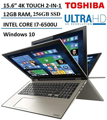 Toshiba - Satellite Radius 2-in-1 15.6' 4K Ultra HD Touch-Screen Laptop - Intel Core i7 - 12GB Memory - 256GB SSD - Carbon Gray