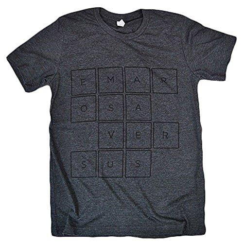 Emarosa Men's Squares T-Shirt X-Large Grey