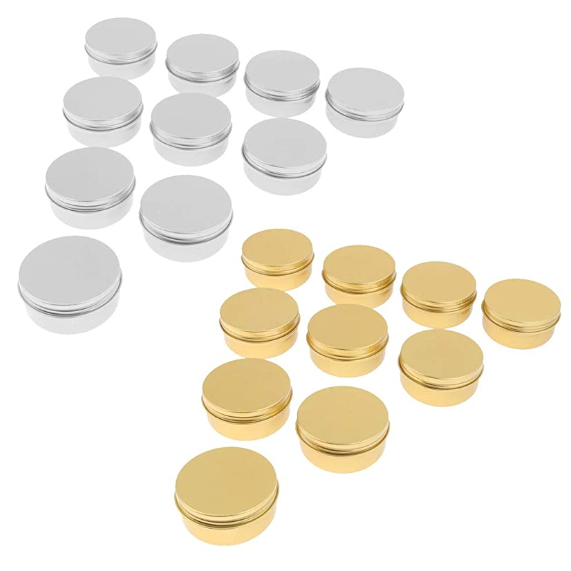 特権責める作動するPerfeclan 20個 メイクアップ コスメ 詰替え容器 クリームジャー 丸い アルミ 空缶 50g