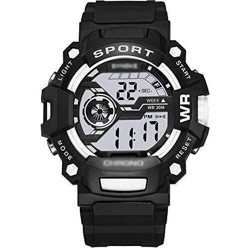 SXXYTCWL Deportes Impermeable Reloj, Pantalla Digital Reloj, Menselectronic Reloj, Despertador, Niños/Estudiante/Adolescentes/for Hombre-C jianyou (Color : D)