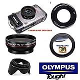 Ultra Wide Angle Lens + Macro + Lens Hood for Olympus Tough TG5 TG4 TG3 TG2 TG1
