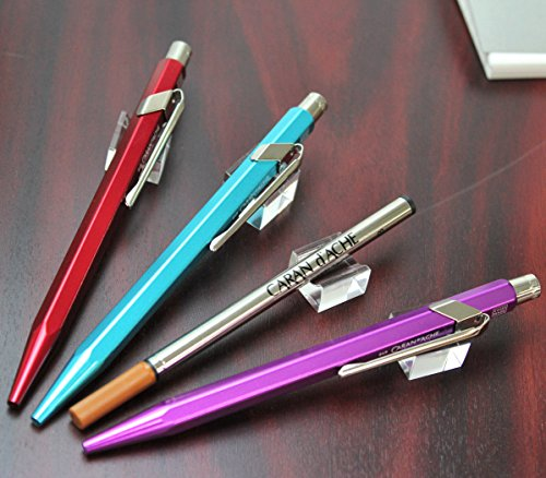 Caran D'ache 849 Popline Metal x Violet Ballpoint Pen with Metal Case (849.850) Photo #5