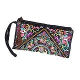 Yalatan Damen Blumen und Blüten Muster Abendtasche Boho Clutch Tasche B