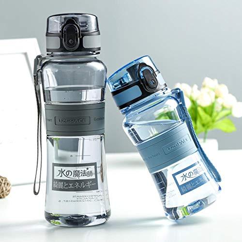 Bottiglia di Sport Bottiglia d'Acqua Shaker per Proteine Sport Escursionismo Arrampicata Palestra Bottiglia di Plastica Bicchieri Portatili A Tenuta