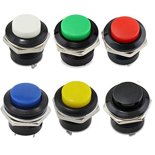 PsmGoods® 6 Momentary EIN/Aus-Taster Horn Schalter für Auto Auto (Colorful)