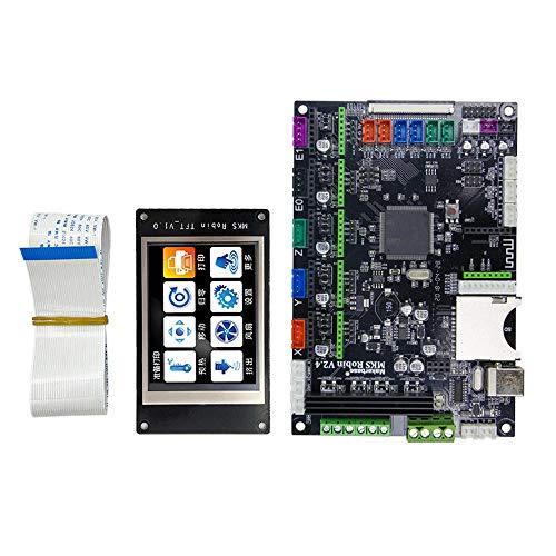 3D Drucker Mainboard Mainboard ARM Controller Board + MK2 Robin TFT3.2inch Bunte Touch Screen mit FFC-Linie und USB-Kabel for 3D-Drucker Für CNC Maschine (Color : Black, Size : One Size)
