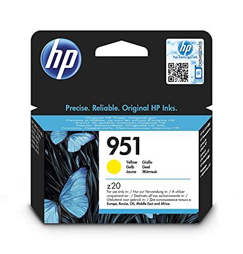 HP 951 CN052AE, Amarillo, Cartucho de Tinta Original, de 700 páginas, para impresoras HP Officejet Pro serie 8600, 8100, 251dw y 276sw