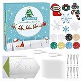 Kesote Bügelperlen Set Weihnachten Steckperlen 8 Farbe mit Steckplatte Zubehör zum Basteln Handwerk für Geschenk Mitgebsel (2,6 mm, 4500 Perlen)