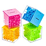 ZPISF 4 Pack Money Maze Puzzle Box, Perfect Money Holder Puzzle and Brain Teasers for Kids and Adults