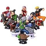 6 Estilos de Naruto del Anime de ajedrez Ajedrez de Naruto Sasuke Adornos de muñecas Adornos 8cm