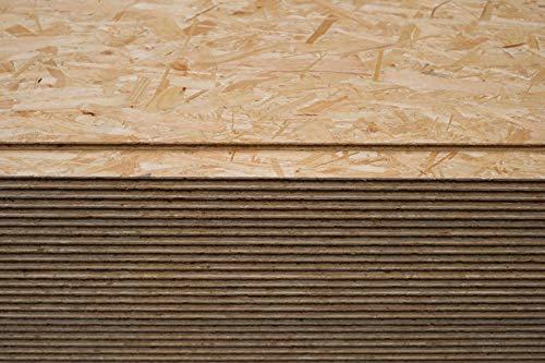 Palette OSB3 61,14€/m² 2050x625mm Nut+Feder Verlegeplatten Spanplatte Spanplatte Verlegeplatte (22mm OSB3 (61,14€ / m²), 32 Stück = 41 m²)