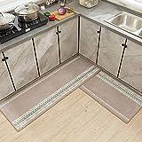 THDFV Colinas de Piso de Cocina 2pcs, Alfombrillas de alfombras Antideslizantes, esteras largas, Almohadillas de alfombras, Conjunto de alfombras de Corredor Interior F-L