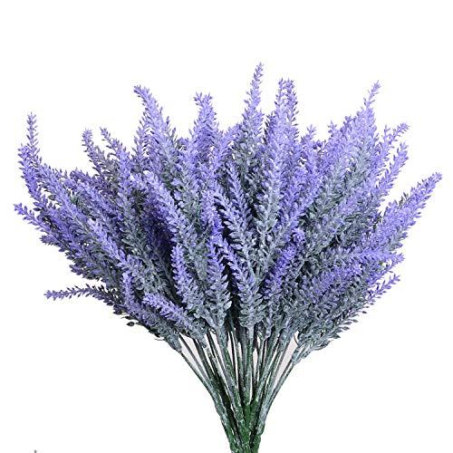 Kunstbloemen Lavendelboeket In Paarse Kunstplant Voor Woondecoratie, Bruiloft, Tuin, Terrasdecoratie, 4 Bundels