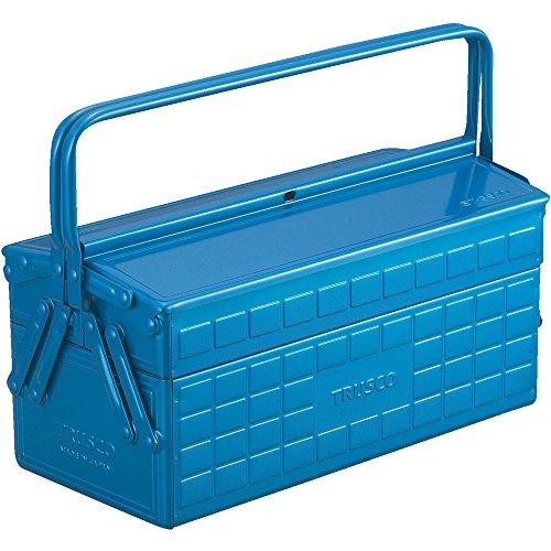 TRUSCO(トラスコ) 2段工具箱 350X160X260 ブルー ST-3500-B