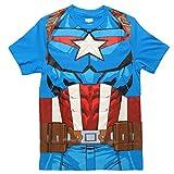 Marvel Comics Character Costume Adult T-Shirt - Captain America (Medium)