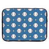 Patrones de béisbol en la Funda para portátil con Rayas Verticales, maletín para portátil, Estuche de Viaje Suave para Tableta, 13 Pulgadas