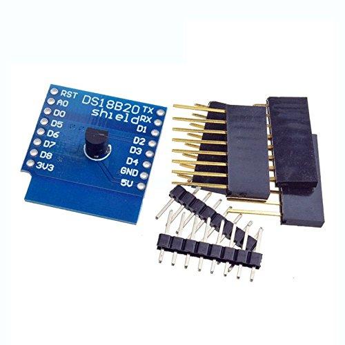 Cikuso DS18B20 Temperatursensor Schild Fuer Wemos D1 Mini Wemos D1 Mini WiFi Erweiterungskarte Kompatibel Fuer Arduino OTA