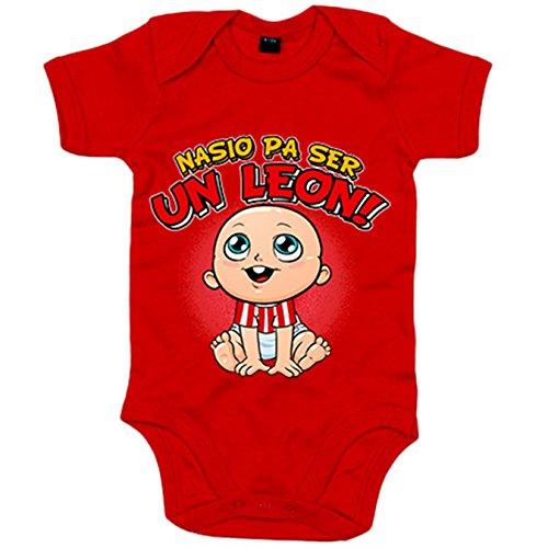 Body bebé nacido para ser un León Athletic Bilbao fútbol - Rojo, 6-12 meses