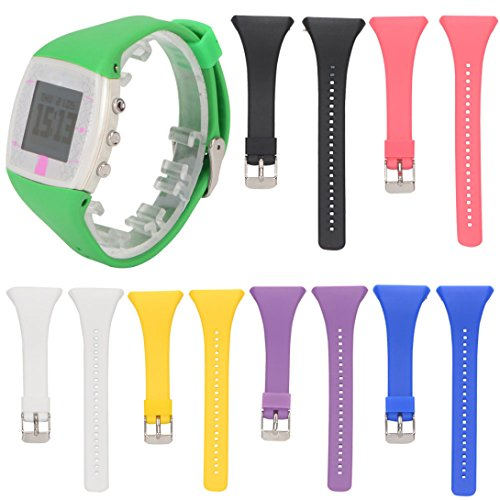 Hotsale! Genuine Silicone Rubber Watch Band Wrist Strap For POLAR FT4 FT7 Watch (Purple)