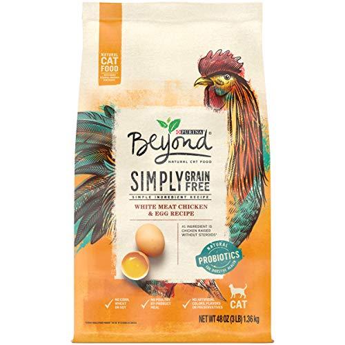 Purina Beyond Grain Free, Natural Dry Cat Food, Grain Free White Meat Chicken & Egg Recipe - 3 lb. Bag