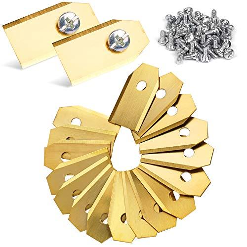 45 Stück Titan Messer Klingen für alle Husqvarna Automower,Gardena,Yardforce Mähroboter Messer, (3g - 0,75mm)+ 45 Schrauben, Ersatzmesser passen für 105, 310, 315, 320, 420, 430x, r40i uvm