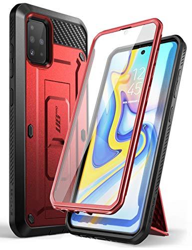 SupCase Funda Galaxy A51 [Unicorn Beetle Pro Serie] 360 Carcasa Completa Antigolpes Case con Protector de Pantalla Incorporado (Negro) (Rojo)