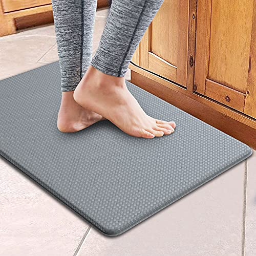 Kitchen Rugs Kitchen Mat Cushioned Anti-Fatigue Kitchen Rug,Non Slip Waterproof Kitchen Mats and Rugs Heavy Duty PVC Ergonomic Comfort Mat for Kitchen, Floor Home, Office, Sink, Laundry