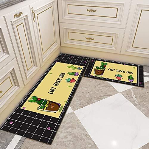 OPLJ Cocina Alfombrillas Antideslizantes y Resistentes a la Suciedad Cuarto de baño Pasillo Alfombra Absorbente Alfombra de la Puerta de Entrada Balcón Dormitorio A8 40x120cm