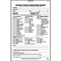 詳細なドライバの車両検査レポートwith pre- / post-trip、2層、カーボンレス–Stock (QTY : 5単位)