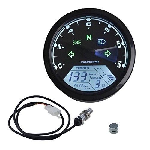 LCD Digital Tachometer Speedometers Odometer for Motorcycles